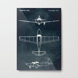 Mooney M20 - 1955 Metal Print