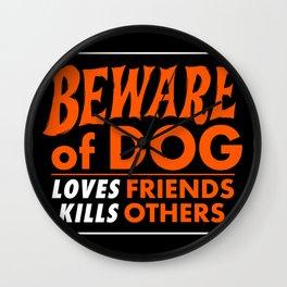 Beware of Dog Wall Clock