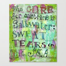 saltwater cure Canvas Print