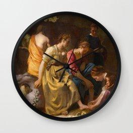 Johannes Vermeer - Diana and Her Companions Wall Clock