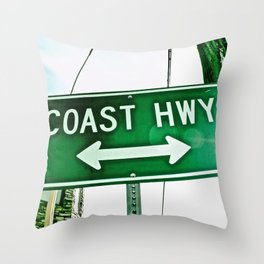 Abstract Coast HWY Throw Pillow
