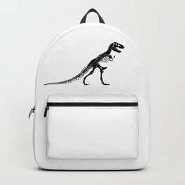 Tyrannosaurus Dinosaur skeleton Black and White Backpack