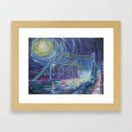 Riverside Bridge Framed Art Print