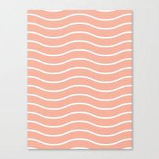 Peach Waves Canvas Print