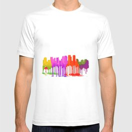 Tampa, Florida Skyline - Puddles T-shirt