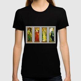 Vintage Art Nouveau Paintings - Birds T-shirt
