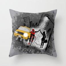 Hailing A High Five Throw Pillow