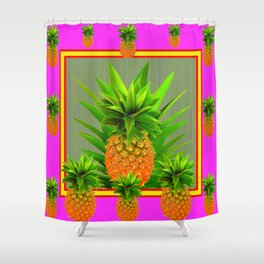 PINK HAWAIIAN PUNCH COLOR PINEAPPLE ART Shower Curtain