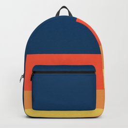 The Ultimate Orange Retro Stripe Backpack