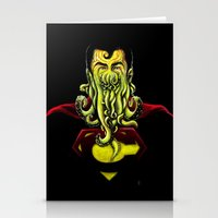 cthulu Stationery Cards featuring SuperCthulhu by 6amcrisis