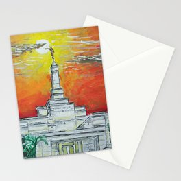 Aba Nigeria LDS Temple Sunset Stationery Cards