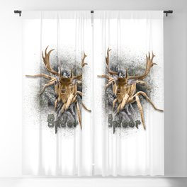 Spider + Deer = Spideer Tarantula Antlers Wilderness Hunting Blackout Curtain