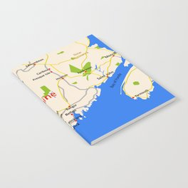 Map of Maine state, USA Notebook
