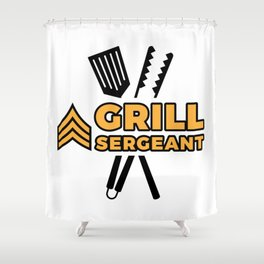 Grill Sergeant - Barbecue BBQ Grilling Meat Shower Curtain
