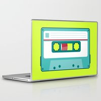 cassette Laptop & iPad Skins featuring #54 Cassette by Brownjames Prints