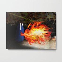 Fire Monster Design Metal Print