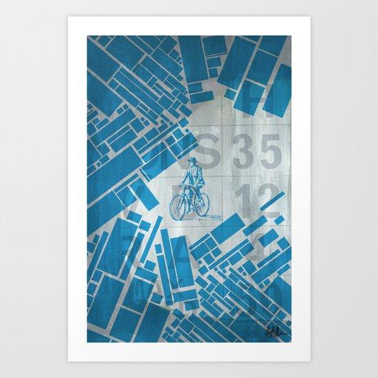 BlueBike Art Print
