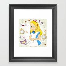 I {❤} Alice In Her Wonderland Framed Art Print