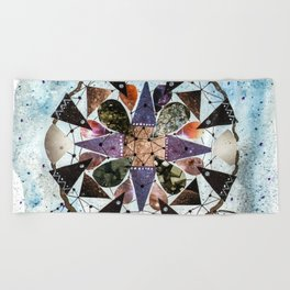 Dream Catcher Mandala Beach Towel