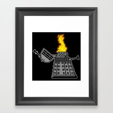 INCINERATE (with flame) Framed Art Print