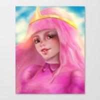 princess bubblegum Canvas Prints featuring Princess Bubblegum by ChrySsV