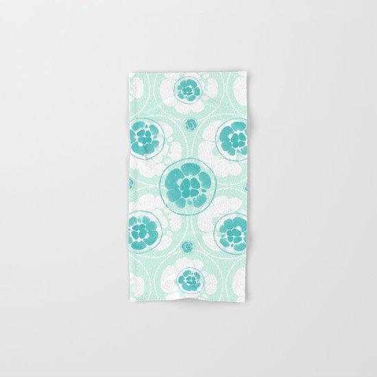 Green Lemon Pattern Hand & Bath Towel