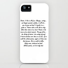 Buffy Passion Quote iPhone Case
