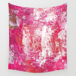 Roses Play Color On Ice Wall Tapestry
