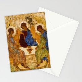 Holy Trinity Icon Byzantine Orthodox Rublev Gift for Priest Religious Artwork Stationery Cards