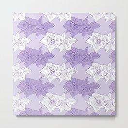 Purple Hellebores Metal Print
