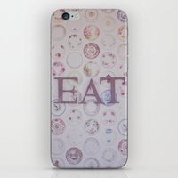 eat iPhone & iPod Skins featuring Eat by Hello Twiggs