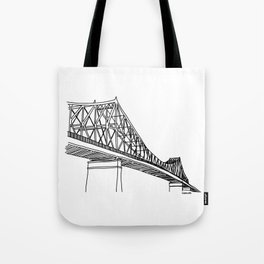 Montreal - Pont Jacques-C - Black Tote Bag