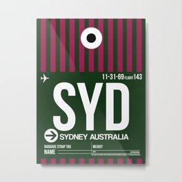 SYD Sydney Luggage Tag 2 Metal Print