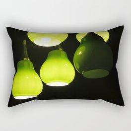 Green Lamps Rectangular Pillow