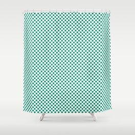 Emerald Polka Dots Shower Curtain
