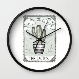 The Cactus Wall Clock