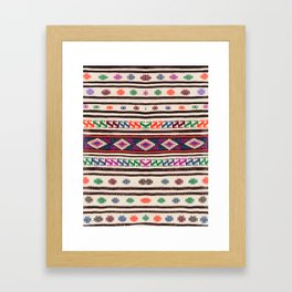 Moroccan Oriental Style Artwork Design Framed Art Print