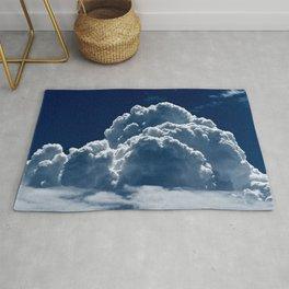 Puffy Cumulus clouds on Deep Blue Sky Rug