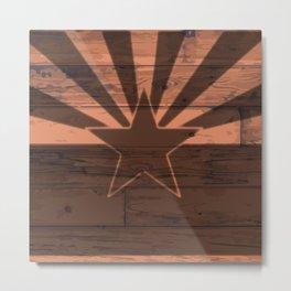 Arizona State Flag Brand Metal Print