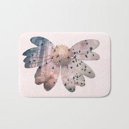 Double exposure flower Bath Mat