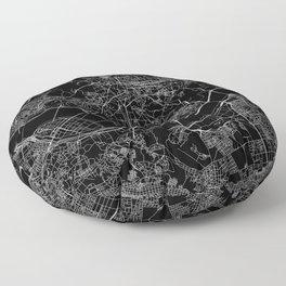Seoul Black Map Floor Pillow