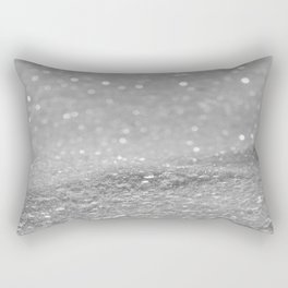 Glitter Silver Rectangular Pillow