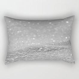 Glitter Silver Rectangular Pillow