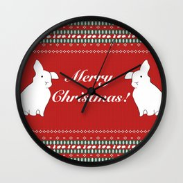Bunny Christmas Wall Clock