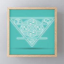 Earth element Framed Mini Art Print