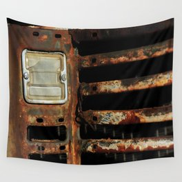 Detail Rusted International Truck1. Wall Tapestry