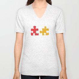 Puzzle Monster Unisex V-Neck