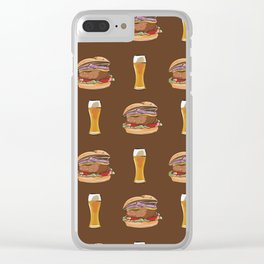 Burgers and Beer Clear iPhone Case
