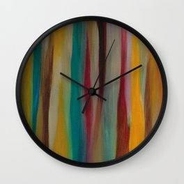 Colorful Acrylic Painting Paths Wall Clock