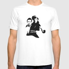 Residents of 221B SMALL White Mens Fitted Tee